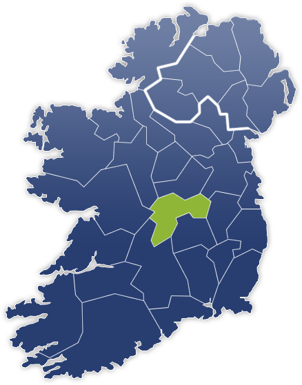 County Offaly - Irland Karte