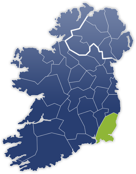 County Wexford - Irland Karte