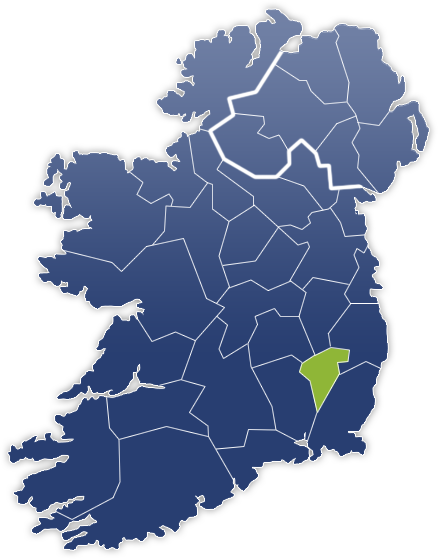 County Carlow - Irland Karte